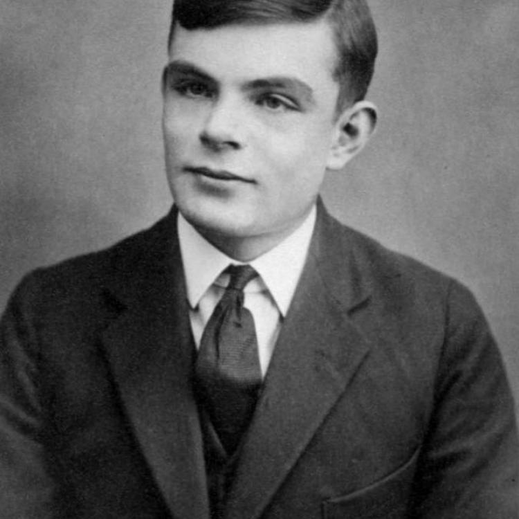Passport photo of Alan Turing at age 16